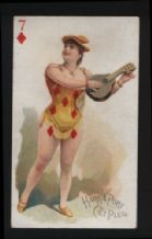 Cigarette card  playing card 1890 beauty USA Moore & Calvi #030